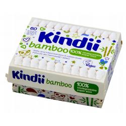 KINDII BAMBOO Patyczki dla Niemowląt i Dzieci 60szt