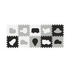 BABYONO Puzzle Piankowe Pojazdy 10szt 394/02
