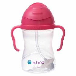 B.BOX Bidon innowacyjny ze słomką malinowy 6+