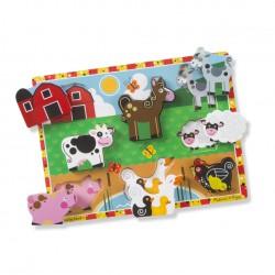 Drewniane Puzzle Zwierzęta na Farmie MELISSA&DOUG