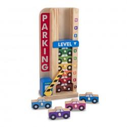 MELISSA DREWNIANY Parking i 10 Samochodów Ustawiaj i Licz