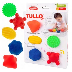 TULLO Piłki sensoryczne 5szt.