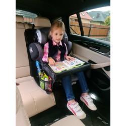 MiniDrive Stolik Tacka Podróżna na Fotelik Samochodowy lub Spacerówkę Czarny
