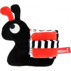 Mom's Care Książeczka Sensoryczna Miękka Ślimak Czarny 606
