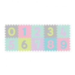 BABYONO Puzzle Piankowe Cyfry Pastelowe 10szt