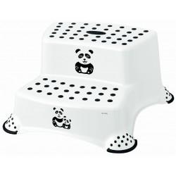 Podest Schodek Dwustopniowy Antypoślizgowy PANDA Biały KEEEPER