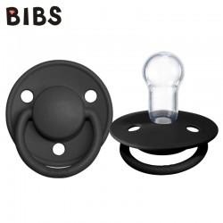 BIBS De Lux BLACK Smoczek Uspokajający Silikonowy One Size
