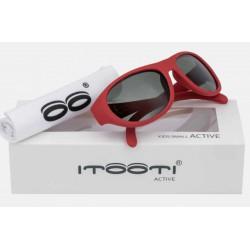 ITOOTI Okulary przeciwsłoneczne Active Small czerwone 0-3lata