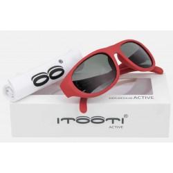 ITOOTI Okulary przeciwsłoneczne Active Medium czerwone 3+