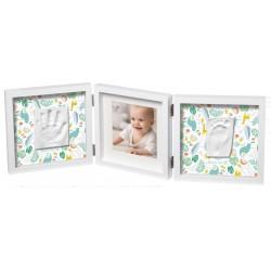 BABY ART Podwójna  ramka na zdjęcia z podwójnym odciskiem