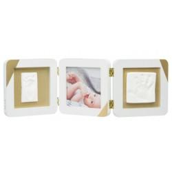Baby Art Ramka na zdjęcia z nadrukiem  white Double Print My Baby Touch Gold
