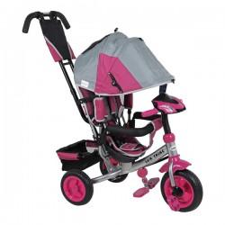 Baby Mix Rowerek Trójkołowy LUX TRIKE różowo-szary