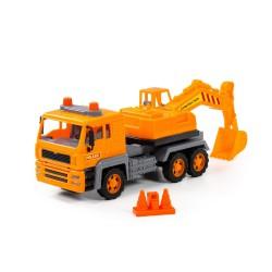 KOPARKA Samochód Ciężarowy Budowlany Pomarańczowy POLESIE