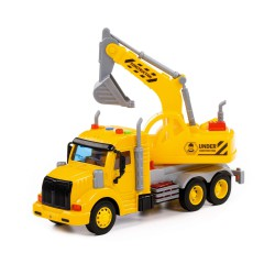 Ciężarówka Koparka Żółta z Dźwiękiem PROFI POLESIE