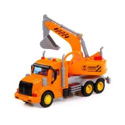Samochód ciężarowy + Koparka Pomarańczowa PROFI POLESIE