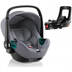 BRITAX ROMER Fotelik Baby Safe 3 i-Size z bazą Flex Base iSense Frost Grey