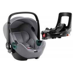 BRITAX ROMER Fotelik Baby Safe iSense i-Size z bazą Flex Base iSense Frost Grey