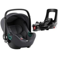 BRITAX ROMER Fotelik 0-13kg Baby Safe iSense z bazą Flaxe Base iSense Midnight Grey