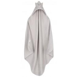 YOSOY Ręcznik Bambusowy z Uszami 100x100 jasno szary