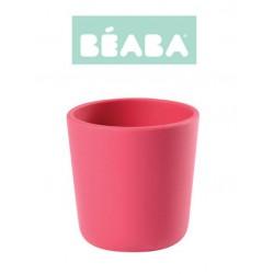 Silikonowy kubek różowy 150ml BEABA