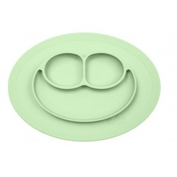 EZPZ Silikonowy talerzyk z podkładką mały 2w1 pastelowa zieleń