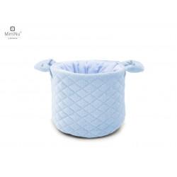 Koszyczek na Kosmetyki Noworodka Pikowany Błękitny MimiNu