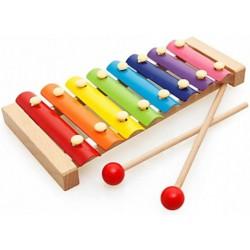 CYMBAŁKI Edukacyjne Drewniane Kolorowe