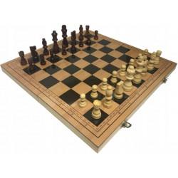 Szachy Królewskie Drewniane Magnetyczne 39,5x39,5cm