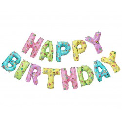 Balony foliowe Litery Napis Happy Birthday
