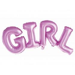 GoDan Balony foliowe Napis GIRL różowy