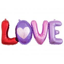 GoDan Balon Foliowy Napis LOVE Kolorowy