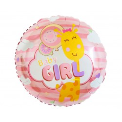 GoDan Balon Foliowy Okrągły BABY GIRL