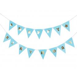 GoDan Girlanda Papierowa Happy Birthday Niebieski