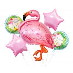 Urodzinowy Zestaw Balonów foliowych Flaming 5 szt