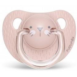 SUAVINEX Smoczek Anatomiczny 0-6m Kotek Różowy HYGGE