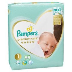 Pampers Premium Care 1 NEWBORN 78szt 2-5 kg