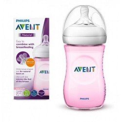 AVENT Butelka Natural Pink 260ml