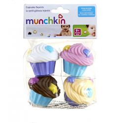 MUNCHKIN Zabawka kąpielowa Kolorowe Muffinki 4szt