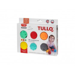 TULLO Piłki sensoryczne Buźki 6szt 462