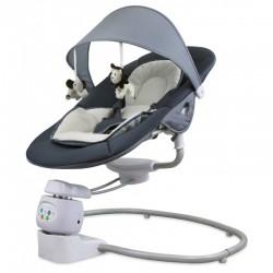 Baby Mix Leżaczek Elektroniczny 360 DARK GREY