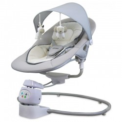 Baby Mix Leżaczek Elektroniczny Obrotowy 360 stopni BEIGE