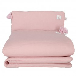 YOSOY Organiczna Pościel Muślinowa Dusty Pink z chwostami