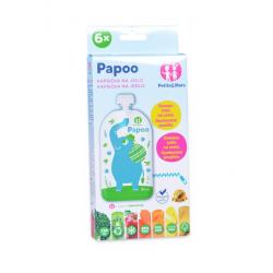 PAPOO Wielorazowe saszetki na pokarm dla dzieci ELEPHANT 6szt