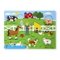 Melissa & Doug Puzzle drewniane dźwiękowe Farma 10738