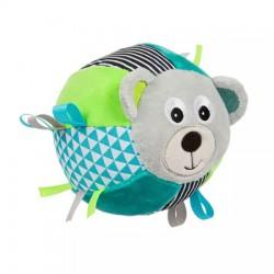 CANPOL Pluszowa Piłka Sensoryczna BEARS GREY z dzwoneczkiem
