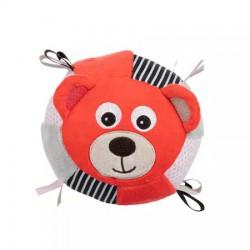 CANPOL Pluszowa Piłka Sensoryczna BEARS CORAL z dzwoneczkiem