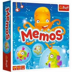 TREFL MEMOS Gra Pamięciowa Ilustrowana  60 elemetów 3+