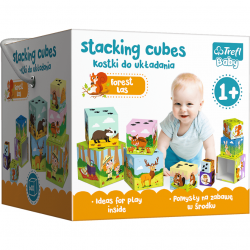 TREFL Piramida Klocki Zabawa w Lesie Baby Cubes