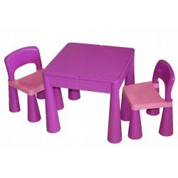 TEGA BABY Zestaw Mebli Stolik +2 Krzesełka fioletowy