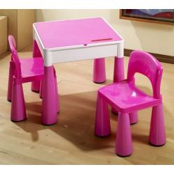TEGA BABY Zestaw Mebli Stolik + 2 Krzesła MAMUT różowy